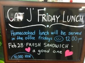 Blaack board sandwich